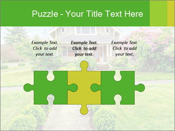 American dream. Beautiful house and green lawn. PowerPoint Template - Slide 42