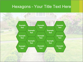 American dream. Beautiful house and green lawn. PowerPoint Template - Slide 44