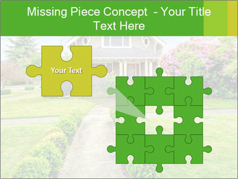 American dream. Beautiful house and green lawn. PowerPoint Template - Slide 45