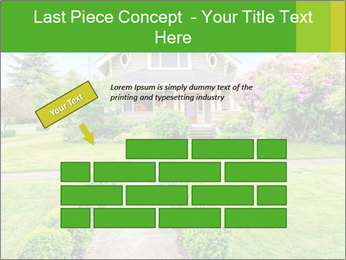 American dream. Beautiful house and green lawn. PowerPoint Template - Slide 46