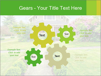 American dream. Beautiful house and green lawn. PowerPoint Template - Slide 47