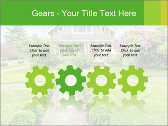 American dream. Beautiful house and green lawn. PowerPoint Template - Slide 48