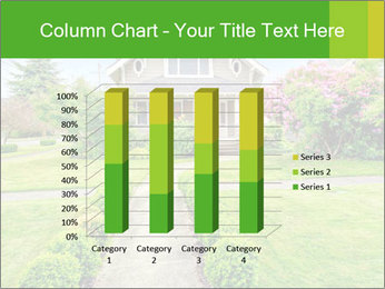 American dream. Beautiful house and green lawn. PowerPoint Template - Slide 50