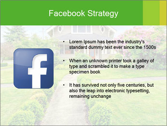 American dream. Beautiful house and green lawn. PowerPoint Template - Slide 6