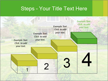 American dream. Beautiful house and green lawn. PowerPoint Template - Slide 64
