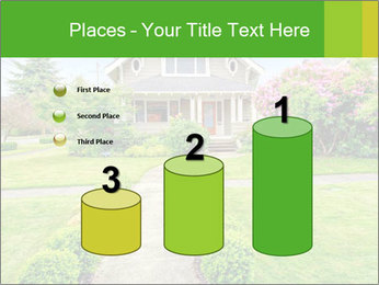 American dream. Beautiful house and green lawn. PowerPoint Template - Slide 65