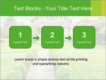 American dream. Beautiful house and green lawn. PowerPoint Template - Slide 71