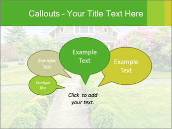 American dream. Beautiful house and green lawn. PowerPoint Template - Slide 73