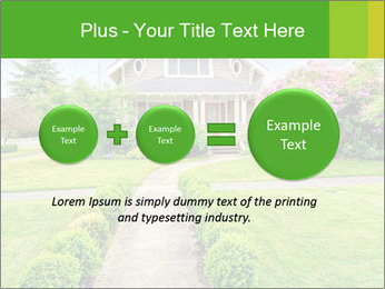 American dream. Beautiful house and green lawn. PowerPoint Template - Slide 75
