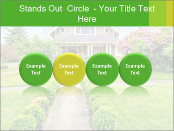 American dream. Beautiful house and green lawn. PowerPoint Template - Slide 76