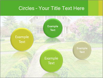 American dream. Beautiful house and green lawn. PowerPoint Template - Slide 77