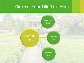 American dream. Beautiful house and green lawn. PowerPoint Template - Slide 79