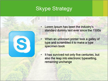 American dream. Beautiful house and green lawn. PowerPoint Template - Slide 8