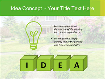 American dream. Beautiful house and green lawn. PowerPoint Template - Slide 80