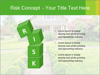 American dream. Beautiful house and green lawn. PowerPoint Template - Slide 81