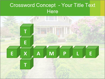 American dream. Beautiful house and green lawn. PowerPoint Template - Slide 82
