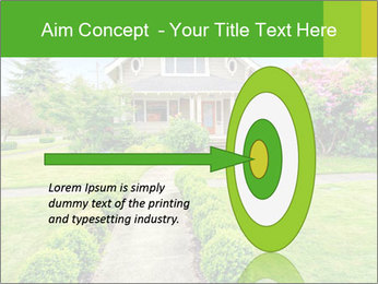 American dream. Beautiful house and green lawn. PowerPoint Template - Slide 83