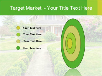 American dream. Beautiful house and green lawn. PowerPoint Template - Slide 84