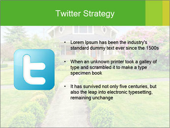 American dream. Beautiful house and green lawn. PowerPoint Template - Slide 9
