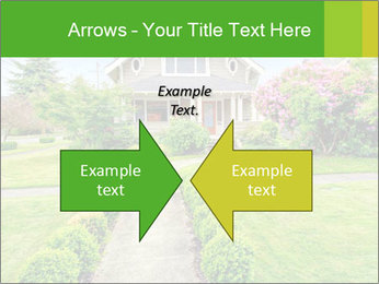 American dream. Beautiful house and green lawn. PowerPoint Template - Slide 90