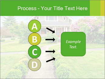 American dream. Beautiful house and green lawn. PowerPoint Template - Slide 94