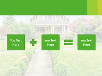 American dream. Beautiful house and green lawn. PowerPoint Template - Slide 95