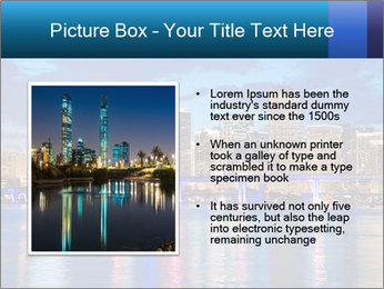 USA Metropolitan City At Night PowerPoint Template - Slide 13
