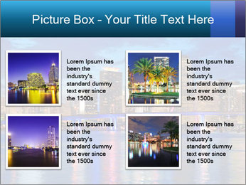 USA Metropolitan City At Night PowerPoint Template - Slide 14
