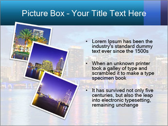 USA Metropolitan City At Night PowerPoint Template - Slide 17