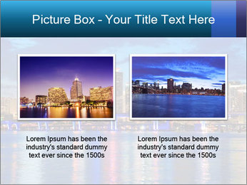 USA Metropolitan City At Night PowerPoint Template - Slide 18