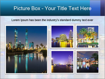 USA Metropolitan City At Night PowerPoint Template - Slide 19