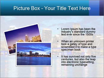USA Metropolitan City At Night PowerPoint Template - Slide 20