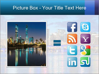 USA Metropolitan City At Night PowerPoint Template - Slide 21