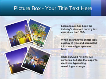 USA Metropolitan City At Night PowerPoint Template - Slide 23