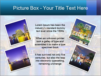 USA Metropolitan City At Night PowerPoint Template - Slide 24