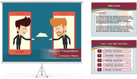 Partnership Cartoon PowerPoint Template