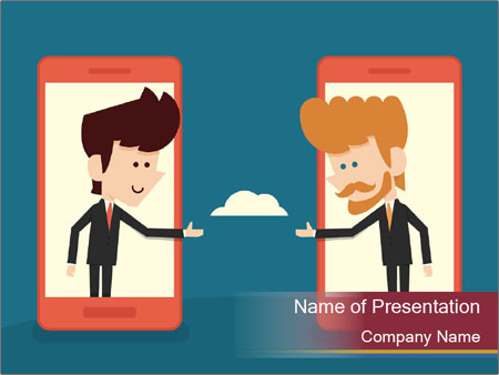 Partnership Cartoon PowerPoint Templates