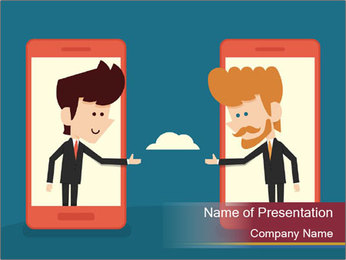 Partnership Cartoon PowerPoint Template