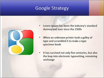Woman Applying Maskara PowerPoint Templates - Slide 10