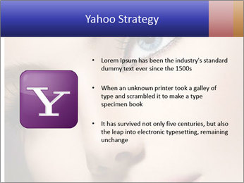 Woman Applying Maskara PowerPoint Templates - Slide 11