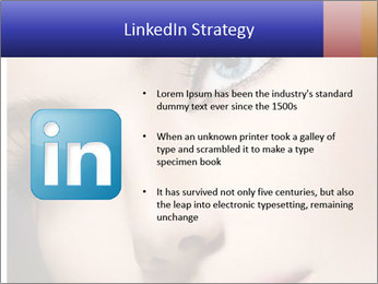 Woman Applying Maskara PowerPoint Templates - Slide 12
