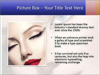 Woman Applying Maskara PowerPoint Template - Slide 13