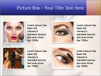 Woman Applying Maskara PowerPoint Templates - Slide 14