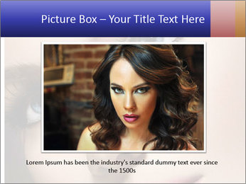 Woman Applying Maskara PowerPoint Template - Slide 15