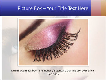 Woman Applying Maskara PowerPoint Template - Slide 16