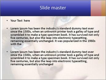 Woman Applying Maskara PowerPoint Template - Slide 2