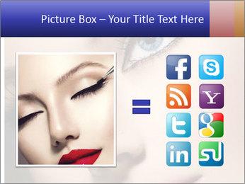 Woman Applying Maskara PowerPoint Templates - Slide 21