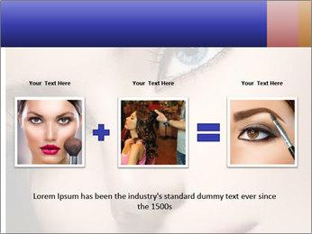 Woman Applying Maskara PowerPoint Template - Slide 22