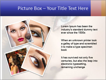 Woman Applying Maskara PowerPoint Template - Slide 23