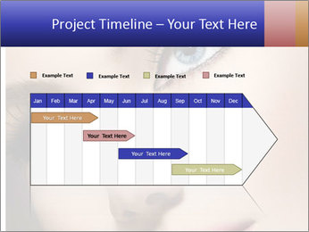 Woman Applying Maskara PowerPoint Templates - Slide 25
